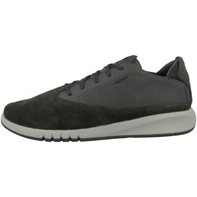 Details about Geox Respira Men's Aerantis Low Top Trainers Low Shoes U927fa Chocolate