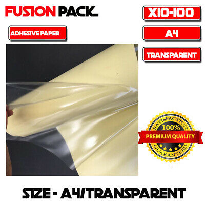 A4 Size Transparent Clear Glossy Self Adhesive Sticker Paper Label Laser Print