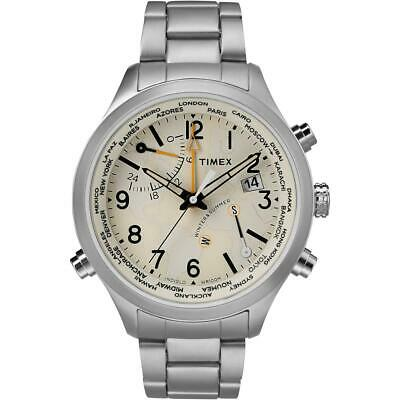 Timex The Waterbury Men's Watch Cream Dial Stainless Steel Date Window TW2R43400