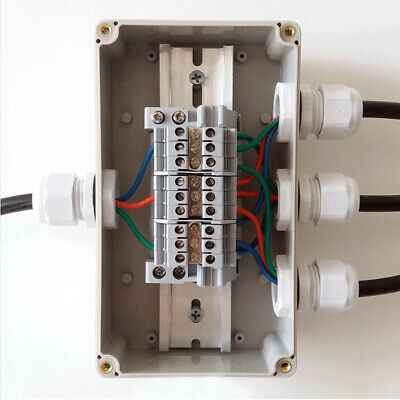 1 to 3 Junction Branch Box Plastic Waterproof  Electric Wiring Terminal Box