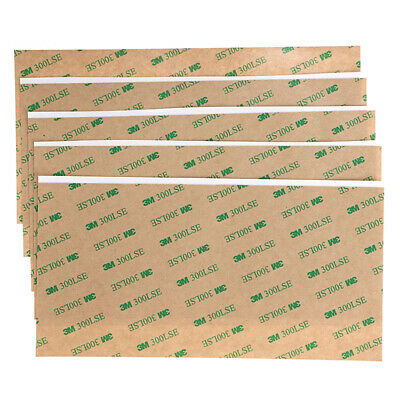 10Sheet 3M 300LSE 4''x8'' Double Sided Adhesive Sheet Transparent Tape Sticker