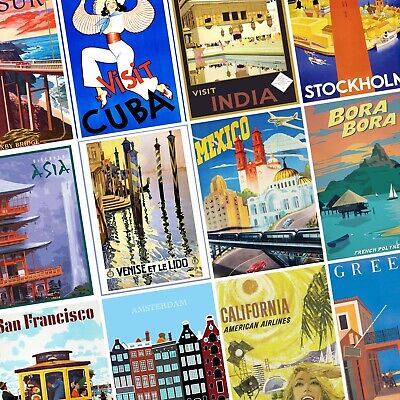 VINTAGE TRAVEL POSTERS City Country Wall Art Retro PHOTO Print POSTER Prints x51