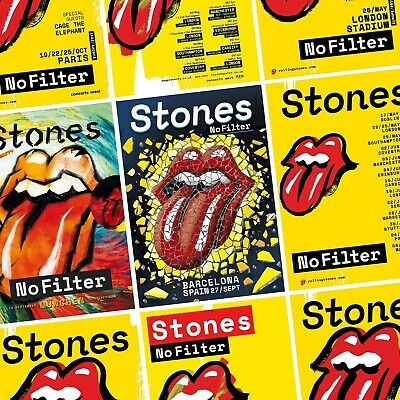 ROLLING STONES No Filter 2018 European & UK Tour PHOTO Print POSTER Each City