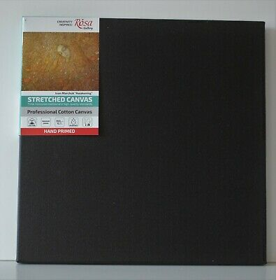 Black Stretched Cotton Canvas Packs, Triple Primed Gesso, Best Quality, Blank