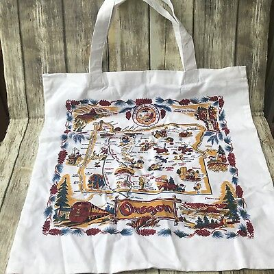 Oregon Map Canvas Grocery Recycle Carry Bag Reusable Tote Shopping