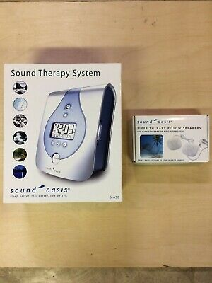 Sound Oasis Sound Therapy System + Pillow Speakers