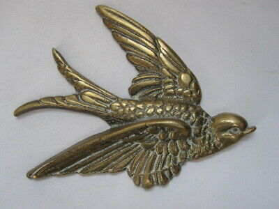50pc Raw Brass Flying Swallow Dove Bird Charms 4860