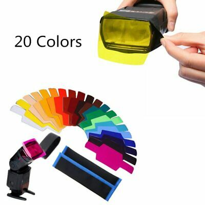 Selens Speedlite Flash Color Gels Filter 20pcs Kit for Canon Nikon Sony Olympus