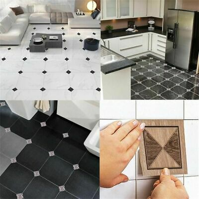 Diagonal 3d Tile Decals Self Adhesive Floor Stickers Kitchen Room