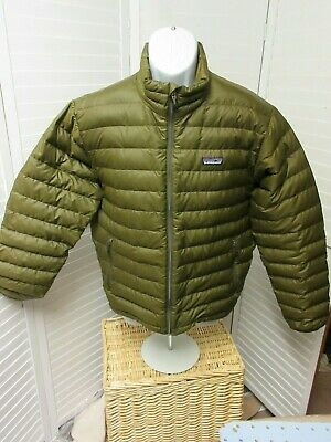 9331c539903 Patagonia Mens ARMY Green 800-Fill Goose Down Puffer Jacket Size SMALL