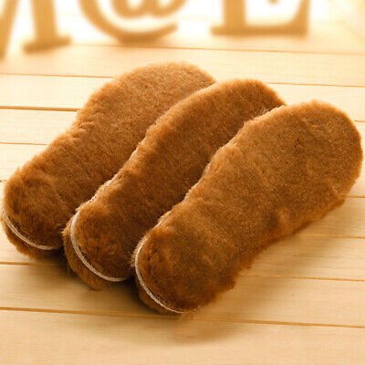 AU_ Cool Warm Fluffy Fleece Thick Replacement Insoles Shoe Pads for Boots Shoes