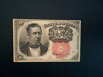 Banknote  1874 U.S fractional 10 cents .