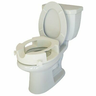 Easy Access Raised Toilet Seat With Easy Wiping Access - Bathroom Safety