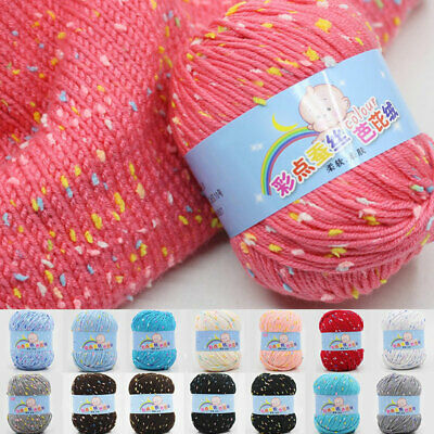 Sale ball 50g Soft KNITTING wool point silk protein Cashmere HAND Crochet YARN
