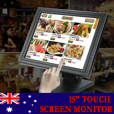 15 Inch TFT LCD Touch Screen Monitor VGA For POS Stand Restaurant Karaok Retail