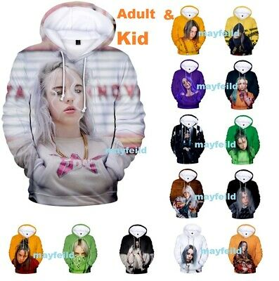 Billie Eilish Hoodie 3D Print Pattern Printed Sweatshirt Cotton Pullover Cartoon