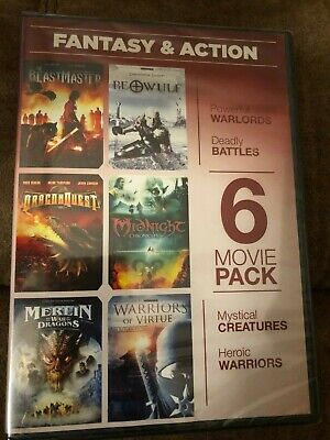 Fantasy & Action 6 Movie Pack DVD  BEASTMASTER ~ BEOWULF ~ DRAGONQUEST  More!