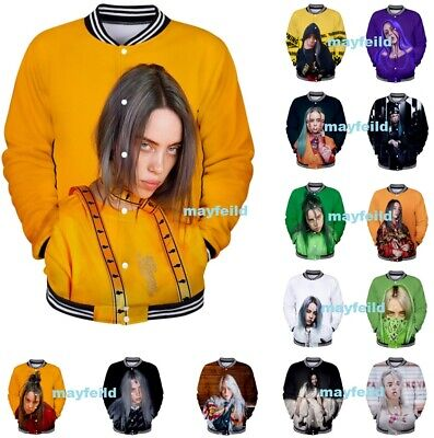 Billie Eilish Hoodie 3D Print Pattern Printed Sweatshirt Cotton Pullover JACKET
