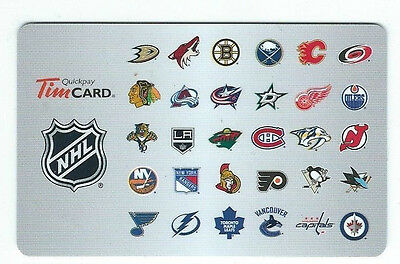 Tim Hortons Nhl Hockey Logo 2015 French Mint Gift Card Rechargeable