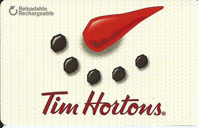2016 Holiday edition Tim Hortons collectible gift card ( bilingual) rechargeable