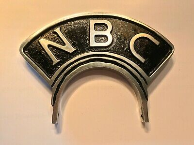 Vintage Style NBC Microphone Flag/Badge/Topper for RCA 77 (metal-reproduction)