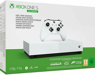 CONSOLE XBOX ONE S 1TB ALL DIGITAL + Minecraft-Sea of Thieves-Forza Horizon 3