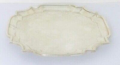 Antique English sterling solid silver Tray , London ,  year :1898