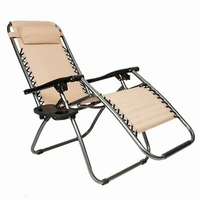 Infinity Zero Gravity Chair, Outdoor Lounge Patio Chairs with Pillow Infinity
