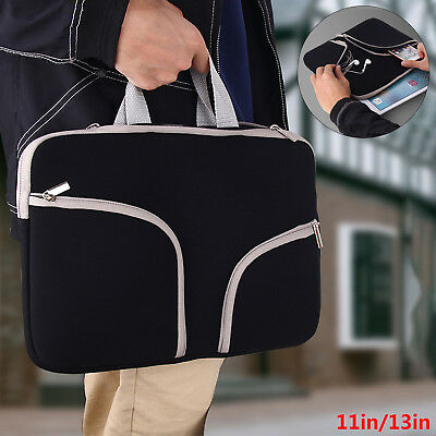 """11"""" 13"""" Laptop Sleeve Carry Bag Notebook  HandBag Pouch  For DELL Sony Acer Asus"""