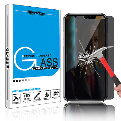 1/2Pcs For iPhone XS Max/XR/XS Anti-Spy Privacy Tempered Glass Screen Protector