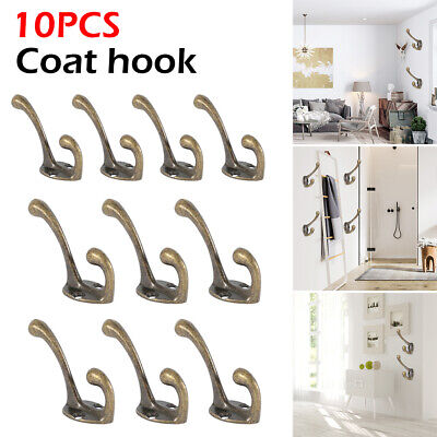 10pcs Hooks Vintage Antique Coat Hat Clothes Robe Wall Mounted Holder Door Rack