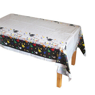 Disposable Plastic Tablecloth Doctorial Hat Table Cover Graduation Party DecoSC
