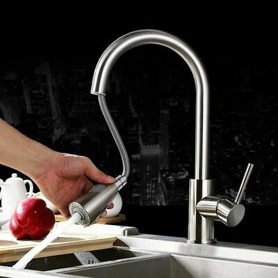 Kitchen Basin Sink 360° Swivel Pull Out Faucet Spray Hot & Cold Water Mixer Tap