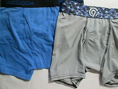 b0f9f682b3618f New 2 Boys Fruit of the Loom Breathable & Champion Boxer Briefs Size M  Gray&Blue