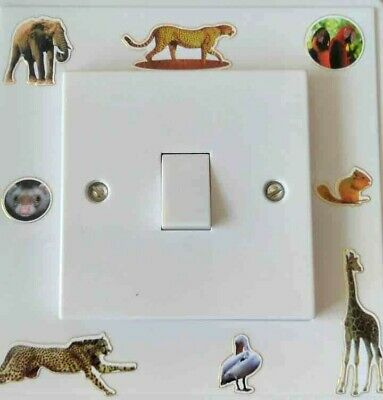 Zoo Animals  themed light switch surround single finger plate  kids room
