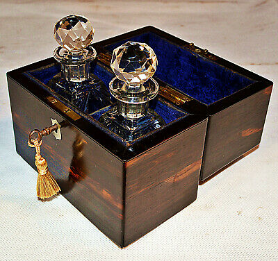 19th Century French Perfume Casket with Key, circa 1870