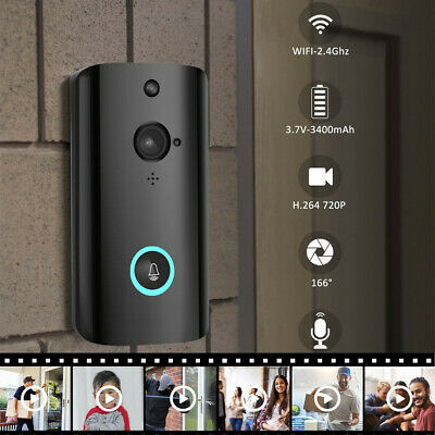 M9 1080P Wireless Smart WIFI Security Doorbell Video Phone Camera Night VisionJI
