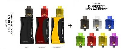 AMAND STARTER KIT - SIKARY Black & Red + 3 Atom Usa e Getta 3ml Clear/Black
