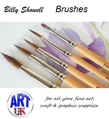 Billy Showell Botanical Artist Watercolour Paint Brush Collection