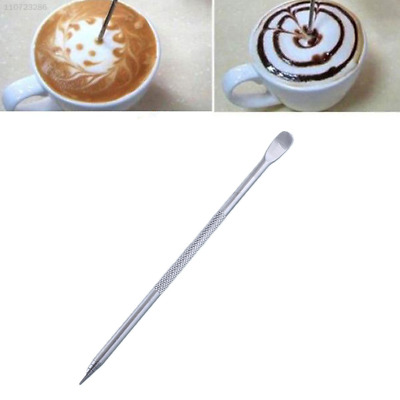 Barista Coffee Latte Decorating Art Pen Stainless Steel Household Kitchen Cafe