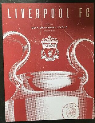 2019 Champions League Final Liverpool v Tottenham Winners Edition With Poster