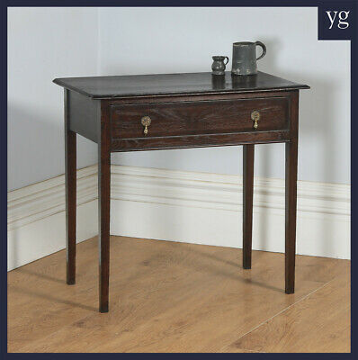 Antique 19th Century Georgian Oak Occasional Side Hall Writing Lowboy Table