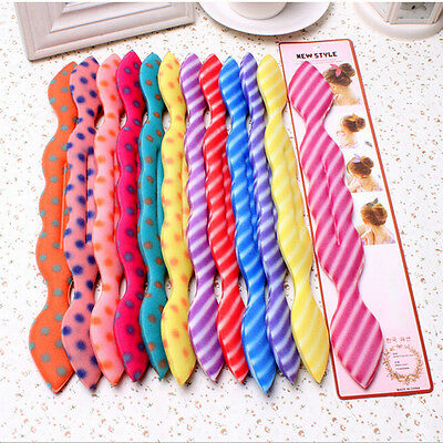 Rabbit Ear Magic Sponge Hair Styling Curler Roller Donut Bun Maker Twist ToolSC