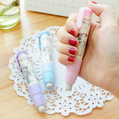 Fashion Students Pen Shape Eraser Rubber Stationery Kid Gift Toy CuteSC