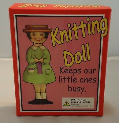 KNITTING DOLL Wooden Spool Craft Kit-Retro Child's Toy Reproduction