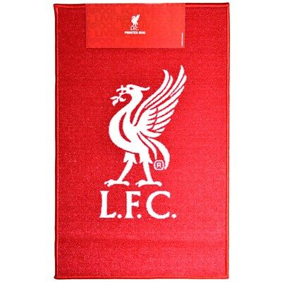 Liverpool Printed Crest Rug - Football Official Fc Floor New Mat Gift