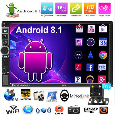 7''2DIN SWM 8802 Android 8.1 Car Stereo GPS WiFi BT FM Radio MP5 Player w/Camera