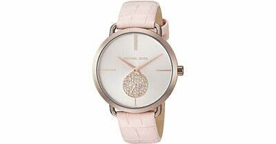 Michael Kors Womens Portia Quartz Steel and Leather Casual Watch Pink MK2721