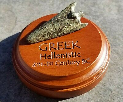 Ancient Hellenistic Greek Bronze BILOBATE Arrowhead KNOB TYPE, 300 - 30 BC