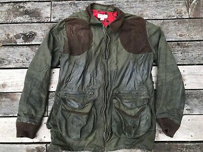 af2e5910bced1 Filson Oil Finish Tin Cloth Waxed Cotton Hunting Shooting Jacket Size Xxl